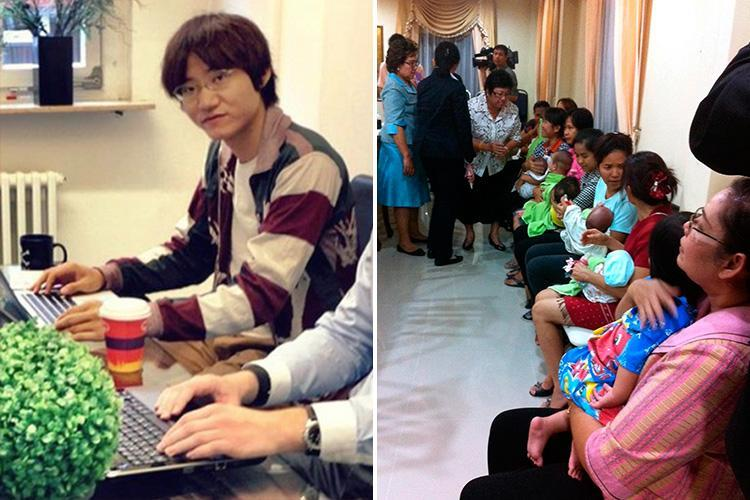 Japanese tycoon who fathered THIRTEEN children at a surrogate mother 'baby factory' in Thailand is granted custody of his entire brood