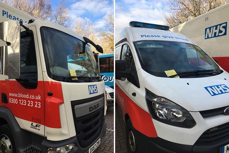 Parking warden slaps tickets on TWO NHS blood donation vans parked up outside donor event