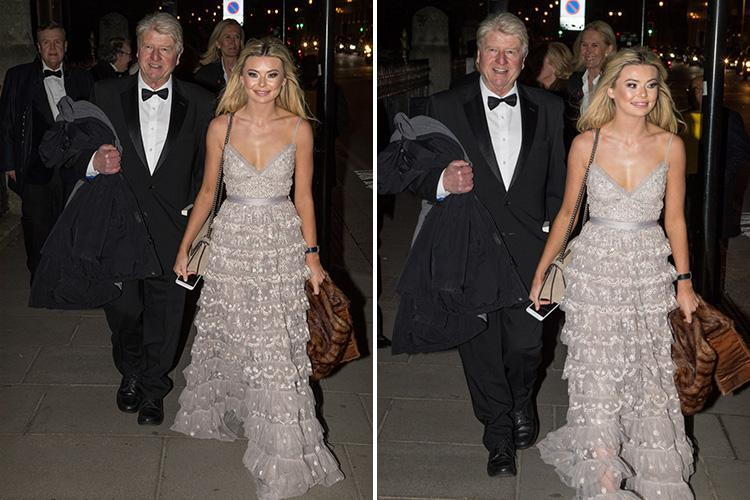 Georgia Toffolo and I'm A Celebrity pal Stanley Johnson hit the town for Tory ball