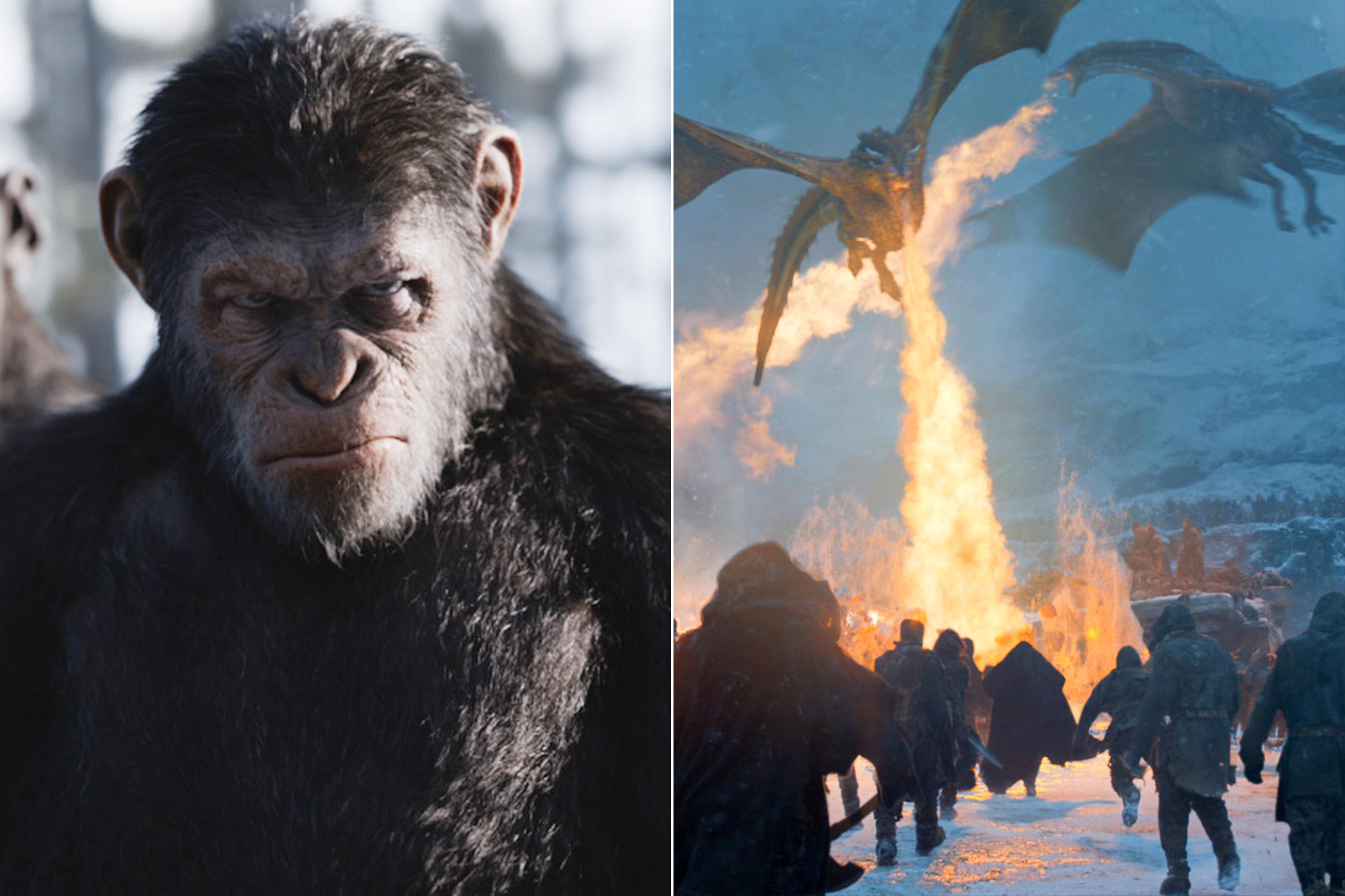 Game of Thrones, Planet of the Apes win 2018 VES Awards
