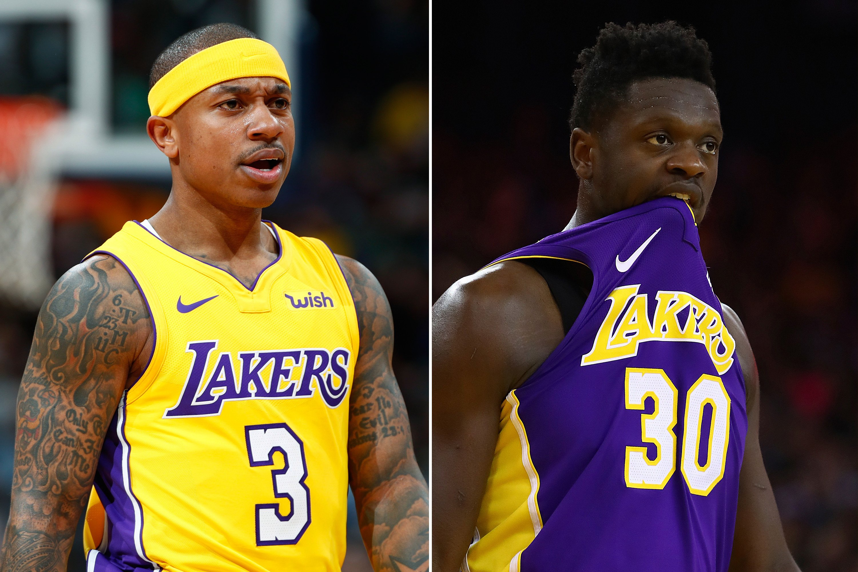 Lakers love Isaiah Thomas and Julius Randle fighting each other
