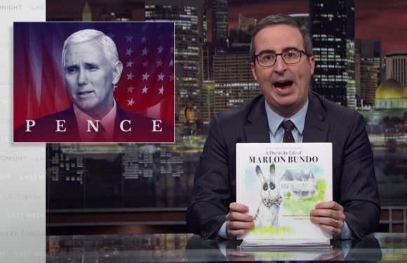 John Oliver's gay children's book on Mike Pence's bunny sells out