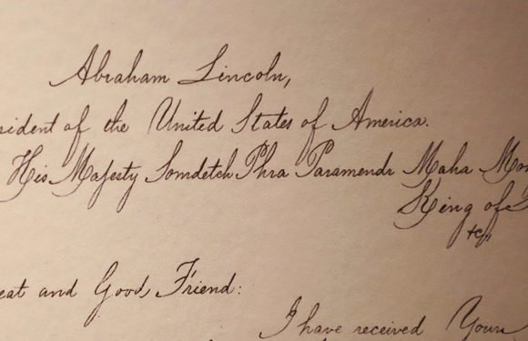 Lincoln's letters with Thai king displayed at new exhibit