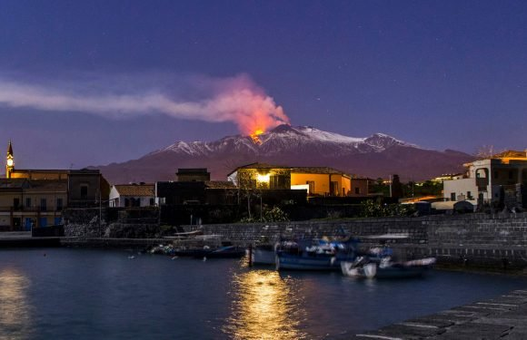 This volcano is slipping into the Mediterranean Sea