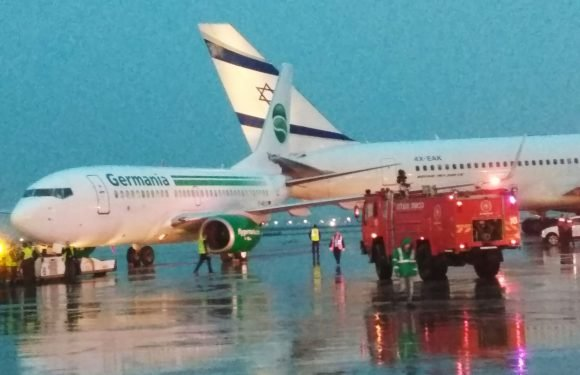 Passenger jets collide on tarmac at Israeli airport