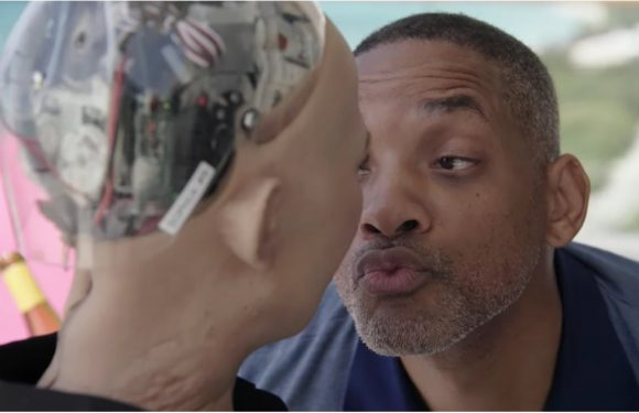 Will Smith Had a Date With Sophia the Robot, and HELP, I Can't Stop Laughing