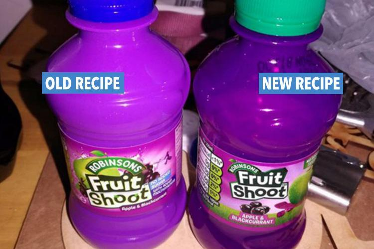 Robinsons Fruit Shoot has changed its recipe and parents claim it's making children sick