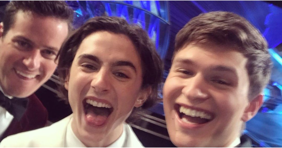 From High School to the Oscars: Timothée Chalamet and Ansel Elgort Are Having the Time of Their Lives