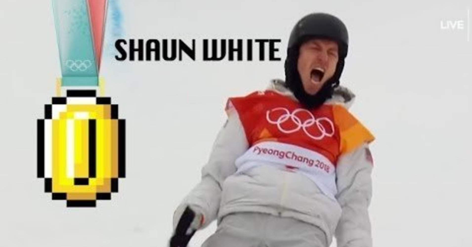 Someone Gave Shaun White's Gold Medal Run The Super Mario Treatment
