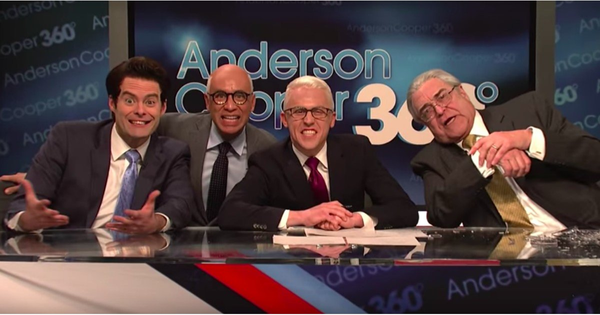 Anderson Cooper Interviews Rex Tillerson and Anthony Scaramucci in This Hilarious SNL Skit
