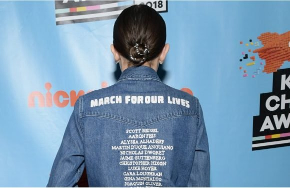 Millie Bobby Brown's March For Our Lives Shirt Deserves a Careful Reading From the Back