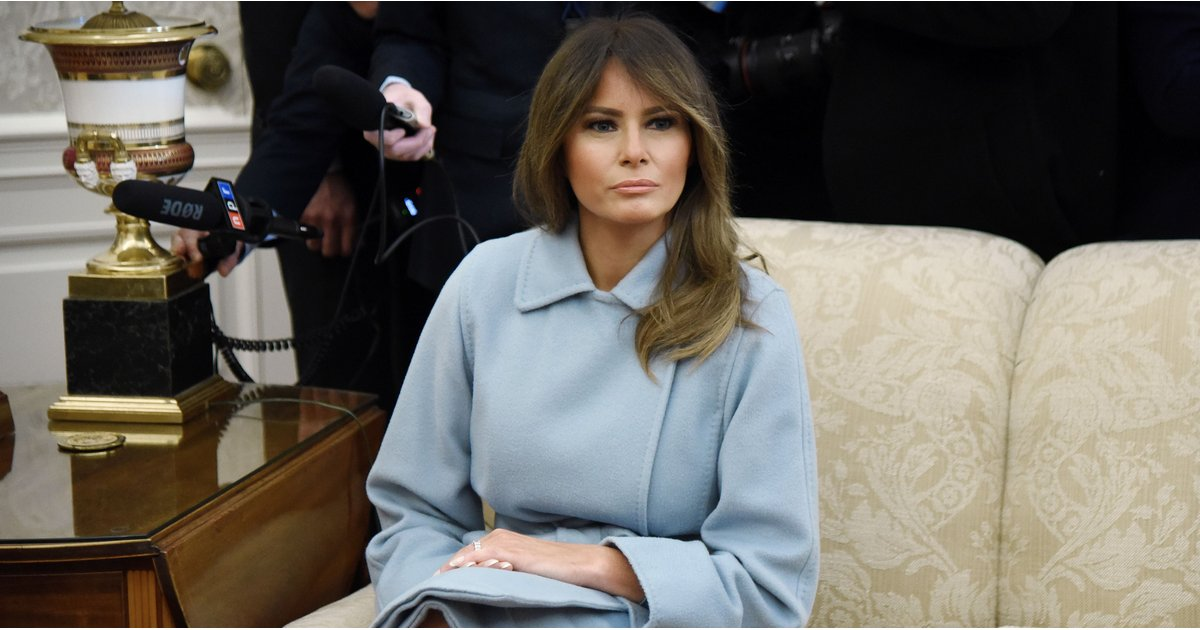 Melania Trump's Winter Coat Will Remind You of Sunny Days With a Clear Blue Sky