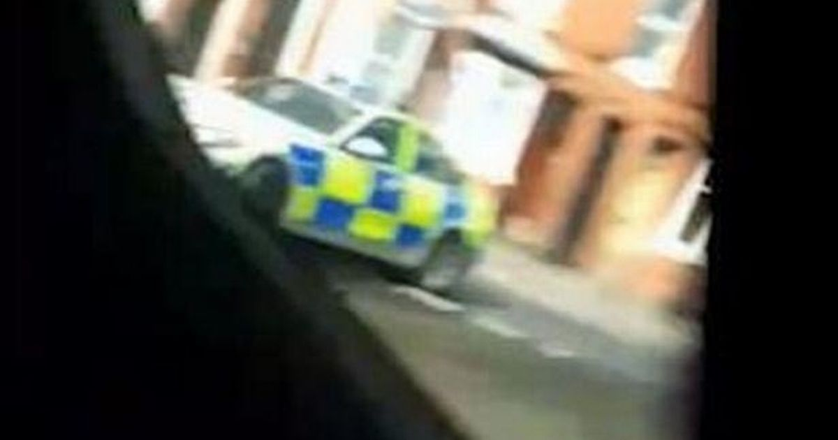Laughing 'car thieves' lead police on dramatic chase – and get away