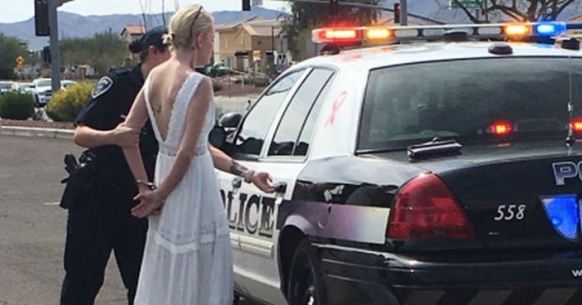 Bride arrested for drink-driving on way to her own wedding
