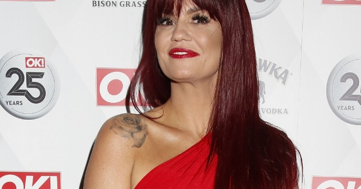 Kerry Katona is barely recognisable in red wig at awards bash