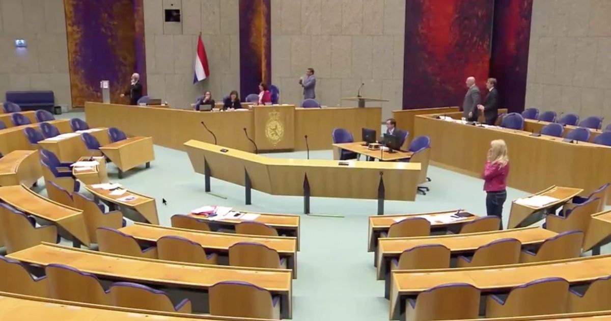 Horror inside Dutch parliament as man falls from balcony 'in suicide attempt'