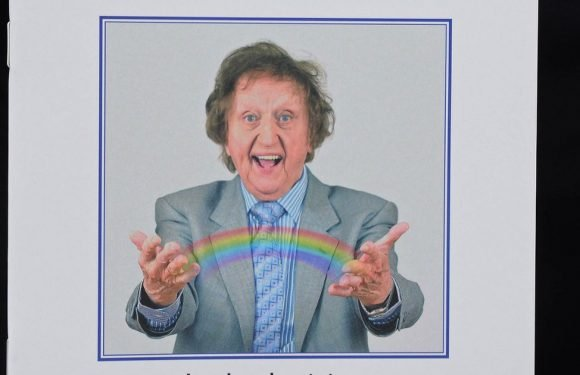 Ken Dodd's funeral kicks off with horse-drawn carriage, tears & tickling sticks