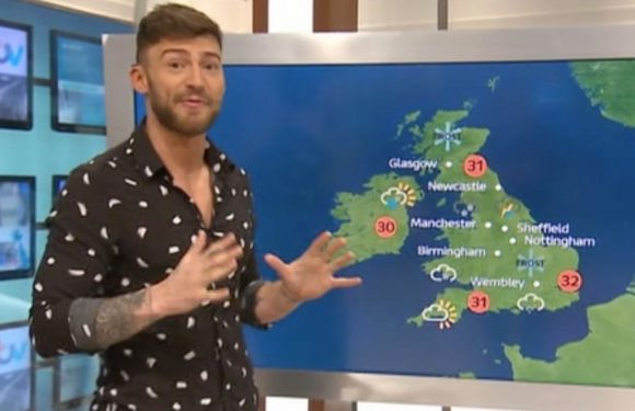 Jake Quickenden tries to outdo weatherman Alex Beresford by giving GMB forecast