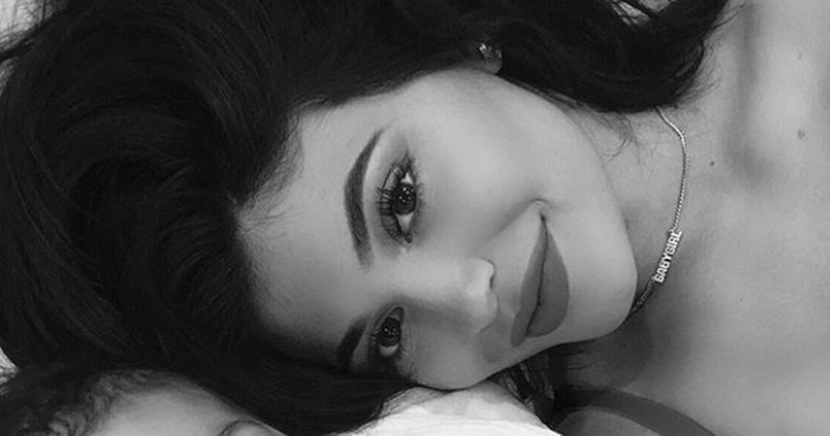 Kylie Jenner is already teaching baby Stormi how to pout for a selfie