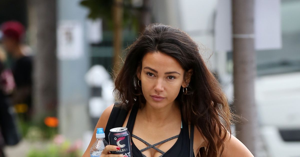 Michelle Keegan goes make-up free for a gym session in West Hollywood