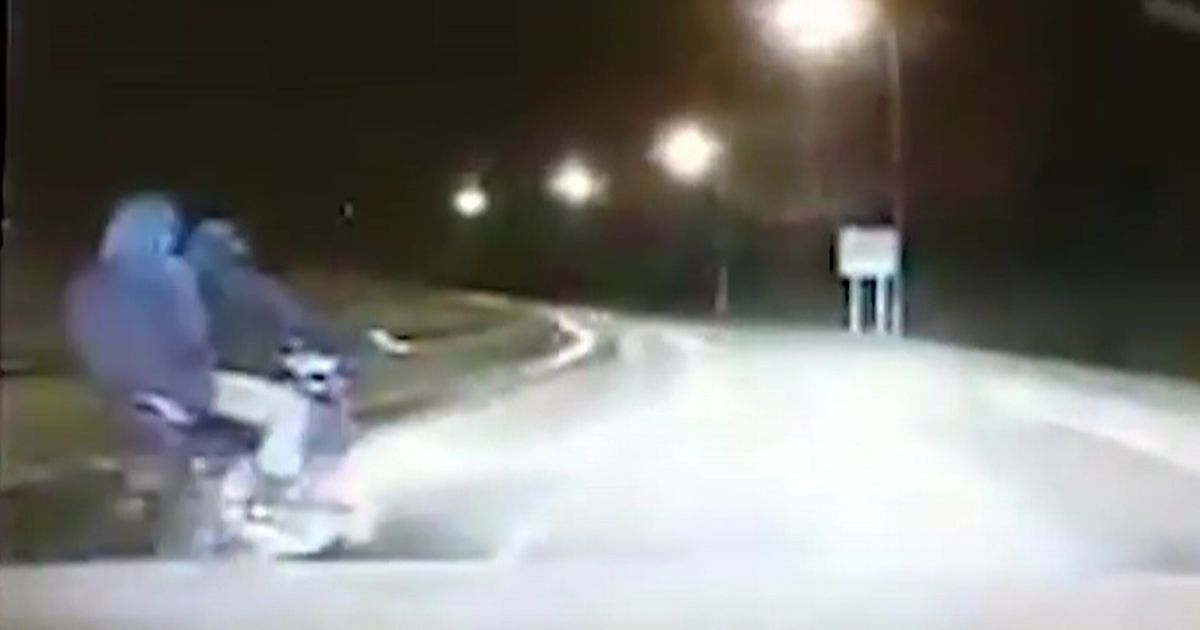 Nail-biting 70mph police chase ends with bike thief skidding across tarmac