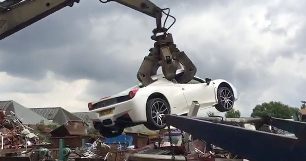 £200K Ferrari crushed after being confiscated from millionaire businessman