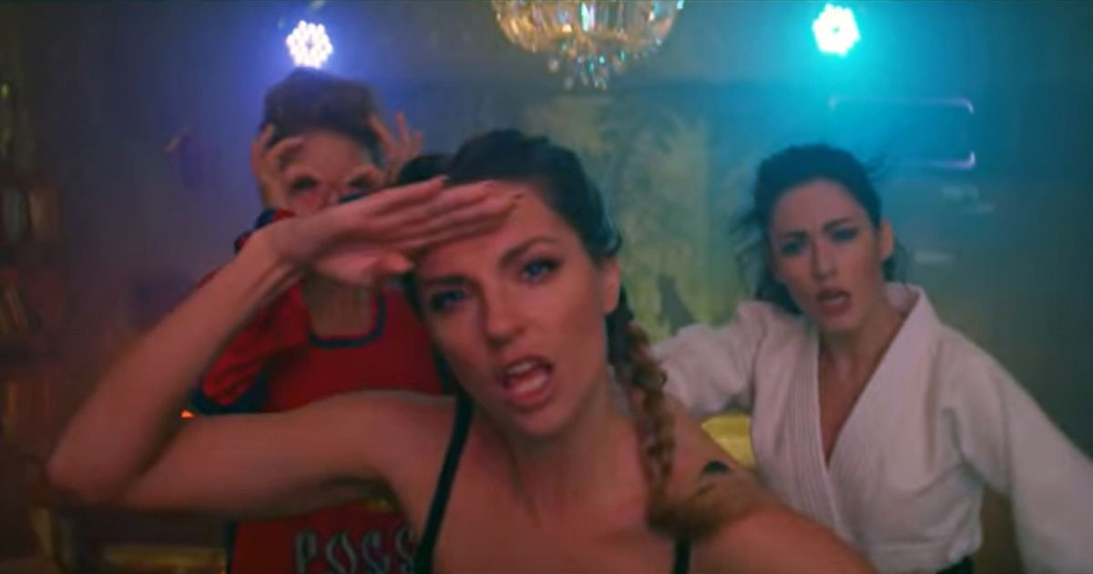 Half naked dancers writhe around in raunchy pro-Putin music video