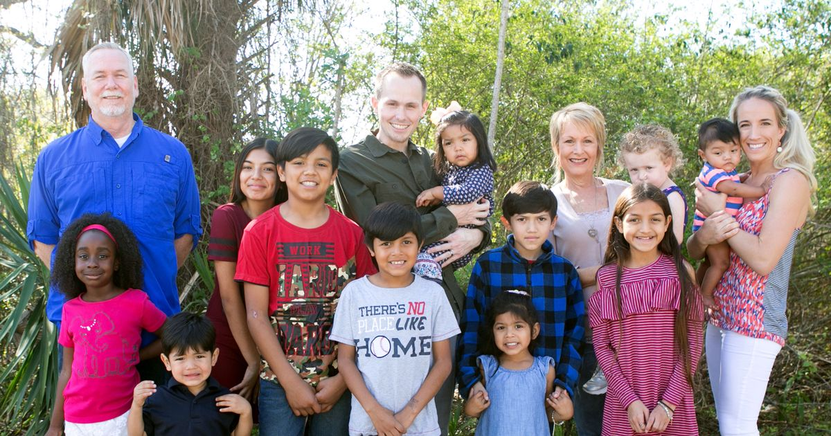 Family adopts nine siblings from foster care so they can all stay together