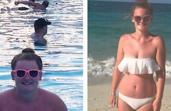 Incredible transformation of woman, 23, unable to fit in plane seat to Majorca