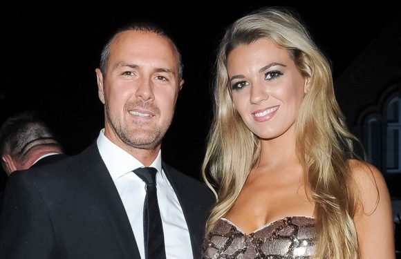 Paddy and Christine McGuinness happy as can be as they cosy up for dinner