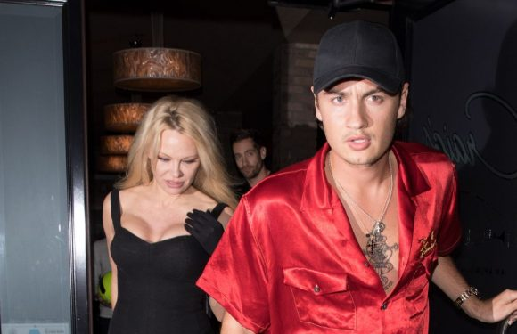Pamela Anderson shows support for son Brandon in his ongoing feud with Tommy Lee