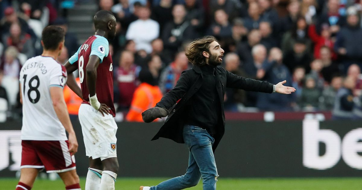 West Ham fans turn on their own as they attack bearded pitch invader 'Jesus'