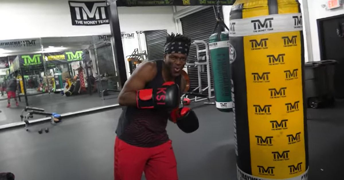 KSI hits out at YouTube rival Logan Paul after training with Floyd Mayweather