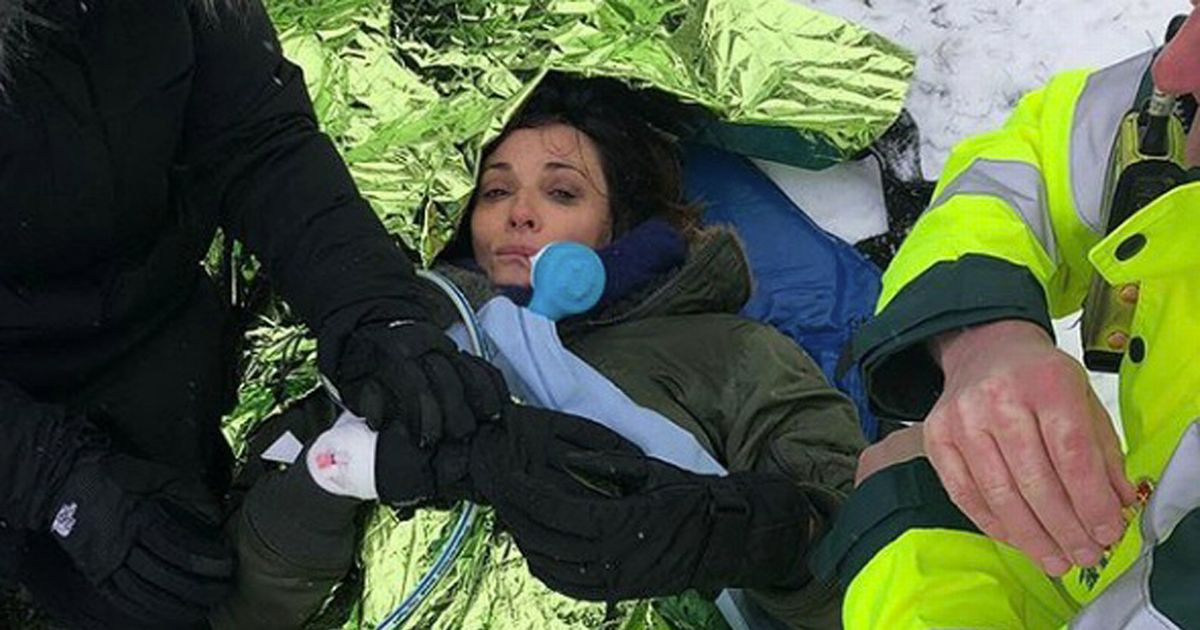 Broadchurch's Sarah Parish in hospital with broken leg after sledging accident