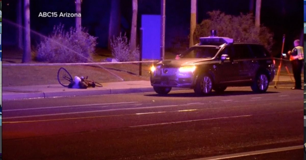 Woman killed by Uber self-driving car as she was crossing street with bike
