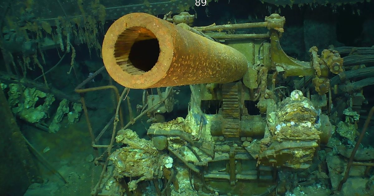 Coral-covered wreck of the USS Lexington discovered 76 years after it was sunk