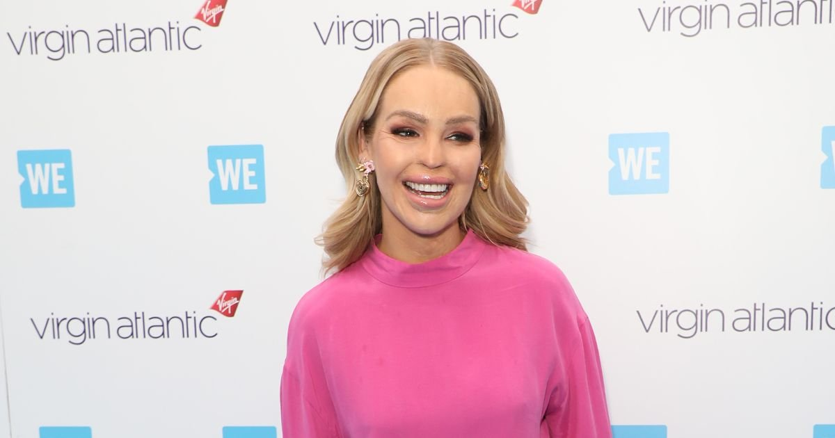 Katie Piper channels her inner disco unicorn in vibrant pink and silver ensemble