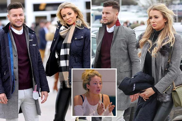 Love Island's Olivia Attwood insists she WILL get back together with Chris Hughes as they step out on 'awkward' first date together at Cheltenham