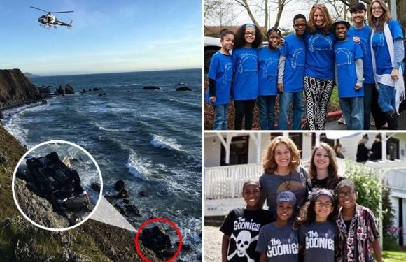 Oregon couple and six kids killed as car plunges off 100ft California cliff days after social services 'child abuse' visit