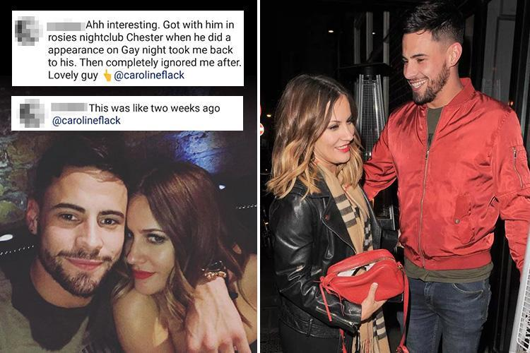 Andrew Brady accused of cheating on Caroline Flack just one day after the pair confirmed their romance