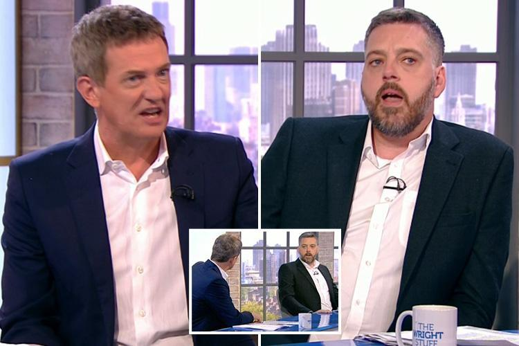 I'm A Celebrity's Iain Lee storms off The Wright Stuff after row over his crumbling marriage