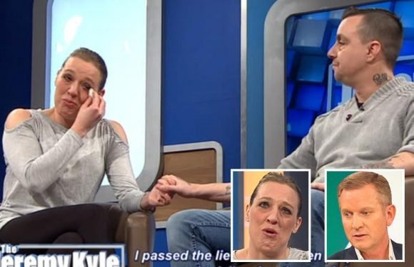 Jeremy Kyle berates guest accuses boyfriend of cheating on her after finding her OWN pink thong down the back of her OWN bed