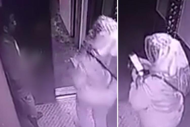 Horror moment sicko masturbates inches away from terrified woman, 53, in a LIFT