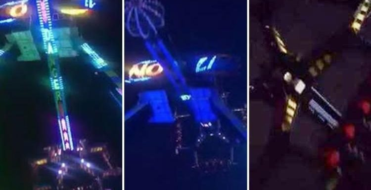 Terrified kids left screaming when Funderworld funfair ride's power cuts out in mid-air