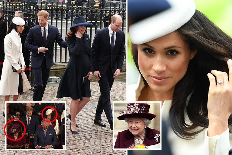 Meghan Markle makes first appearance with Queen at official event as royal family attends Commonwealth Day service at Westminster Abbey