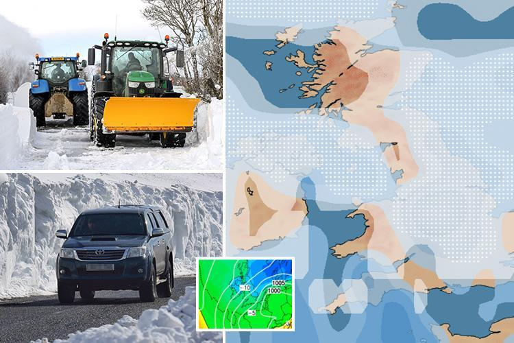 Met Office UK weather forecast says 'greater chance' of snow and White Easter next week as 'Beast from the East 3' brings -9C deep freeze