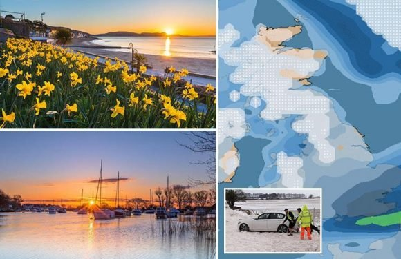 UK weather – Britain basks in balmy 12C sunshine but snow will return TOMORROW sparking Easter getaway chaos