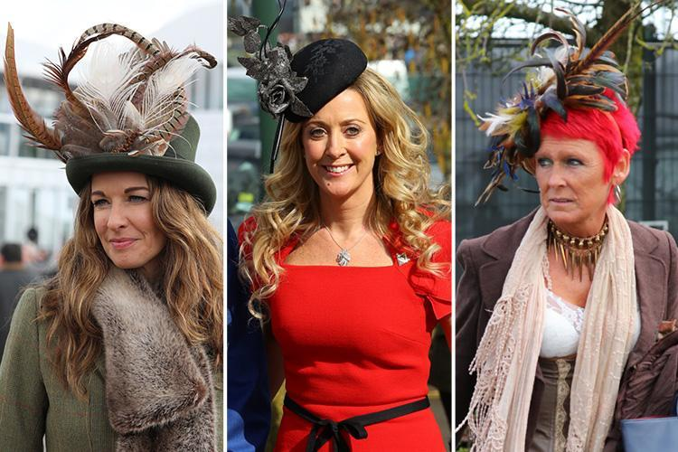 Cheltenham racegoers are dressed to impress for Champion Day… and feathered hats are the order of the day
