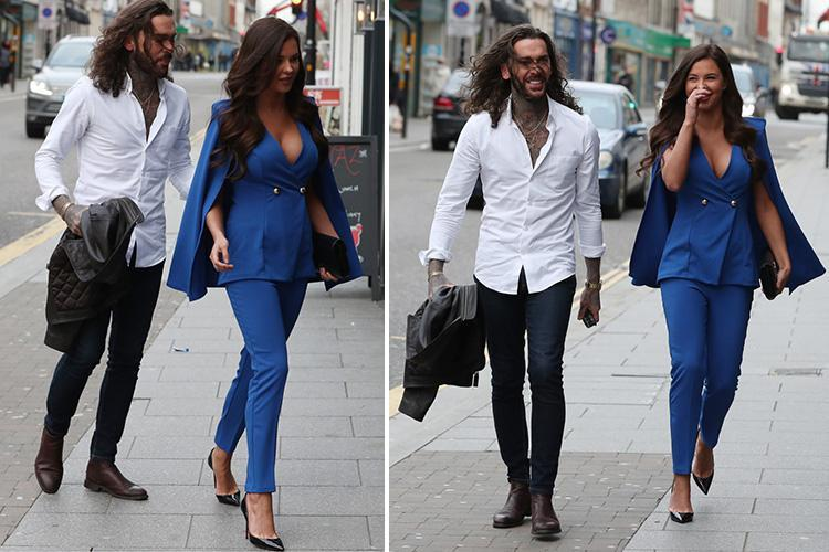 Pete Wicks and Shelby Tribble look loved up during a date in Essex