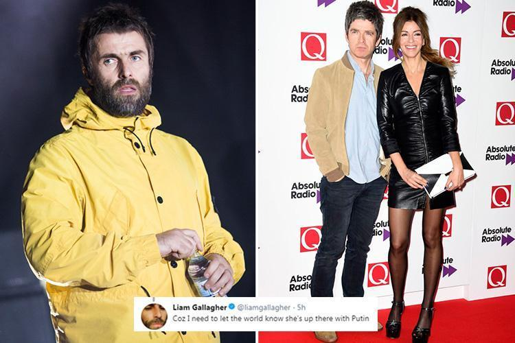 Liam Gallagher compares brother Noel's wife Sara to Vladimir PUTIN in Twitter rant